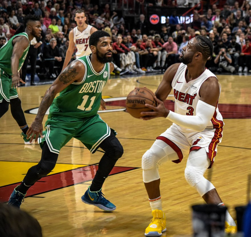 Miami Heat against Boston Celtics